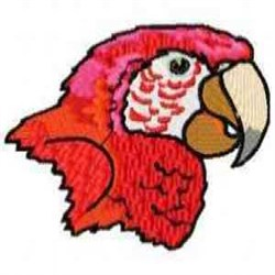 Scarlett Macaw Head embroidery design