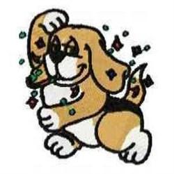 Confetti Beagle embroidery design