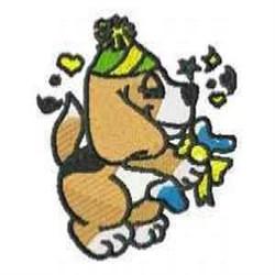 Happy Beagle embroidery design