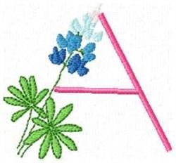 Blue Bonnet A embroidery design