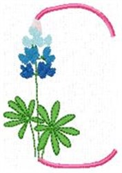 Blue Bonnet C embroidery design