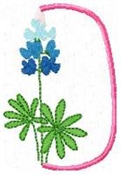 Blue Bonnet D embroidery design
