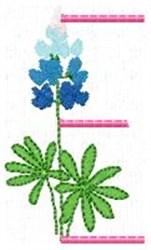 Blue Bonnet E embroidery design