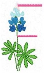 Blue Bonnet F embroidery design