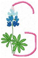 Blue Bonnet G embroidery design
