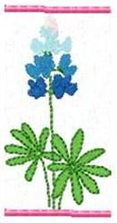 Blue Bonnet I embroidery design