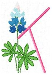 Blue Bonnet K embroidery design