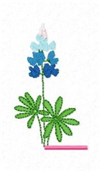 Blue Bonnet L embroidery design
