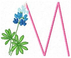 Blue Bonnet M embroidery design