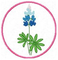Blue Bonnet O embroidery design