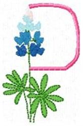 Blue Bonnet P embroidery design