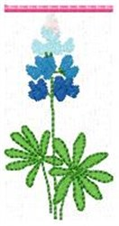 Blue Bonnet T embroidery design