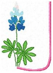 Blue Bonnet U embroidery design