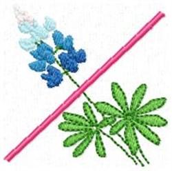 Blue Bonnet X embroidery design