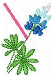 Blue Bonnet Y embroidery design