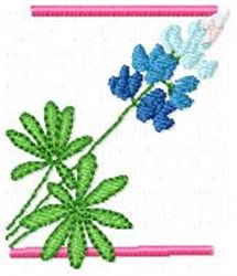 Blue Bonnet Z embroidery design