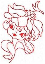Petal Denise Redwork embroidery design