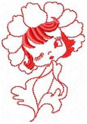 Petal Sandy Red embroidery design