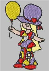 Bonnet Patch Balloons embroidery design