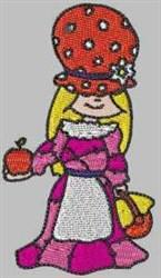 Bonnet Patch Apple embroidery design