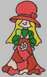 Bonnet Patch Girl embroidery design