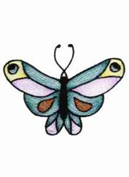 Colored Butterfly embroidery design