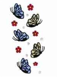 Butterflies Galore Border embroidery design
