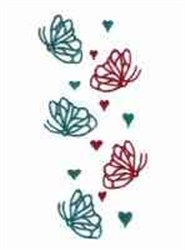 Butterflies & Hearts Border embroidery design