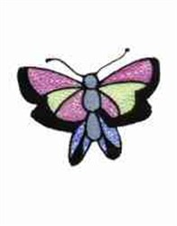 Abstract Butterfly embroidery design