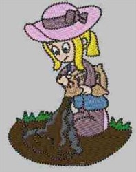 Gardening Carla embroidery design