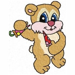 Candy Teddy embroidery design
