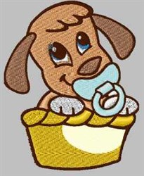 Binky Doggy embroidery design