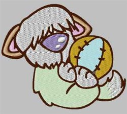 Doggys Ball embroidery design