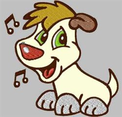 Singing Doggy embroidery design