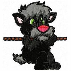 Tug War Dog embroidery design