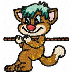 Tug War Cat embroidery design