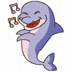 Musical Dolphin embroidery design