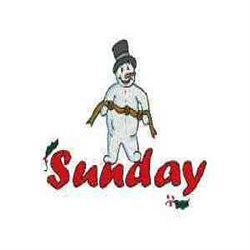 Snowman Sunday embroidery design