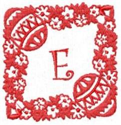 Easter Alpha E embroidery design