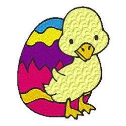 Easter Ducky embroidery design