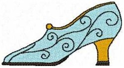 Curly Shoe embroidery design
