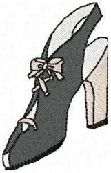 Womans Shoe embroidery design