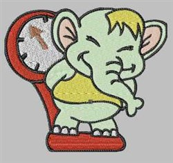 Elephant On Scale embroidery design