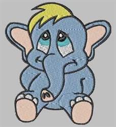 Sad Elephant embroidery design