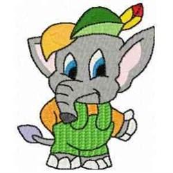 Boy Elephant embroidery design