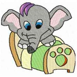 Elephant In Bed embroidery design