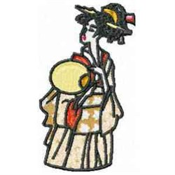 Exotic Geisha embroidery design