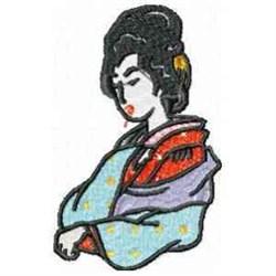 Asian Geisha embroidery design