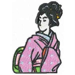 Asian Geisha embroidery design