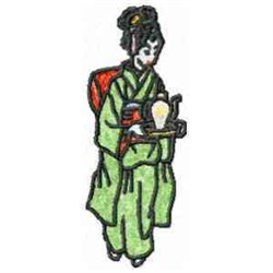 Japanese Geisha embroidery design